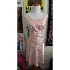 Vintage 90s Moda International pink backless mini